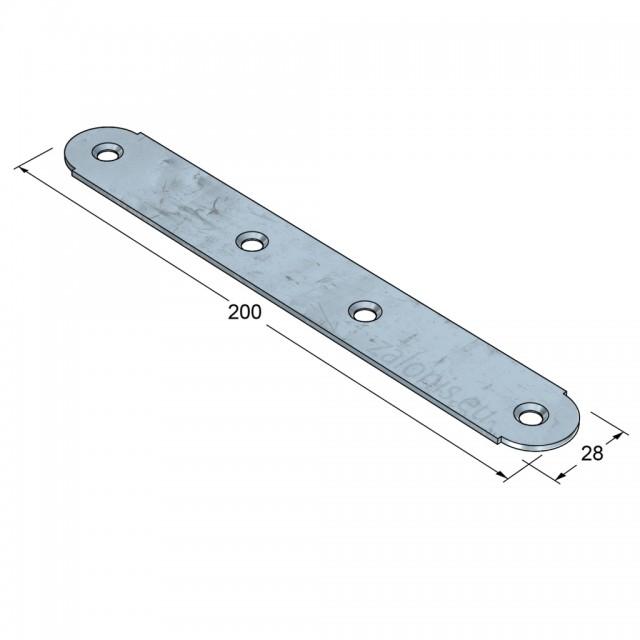 CONNECTION BAR 200 / GALVANIZED